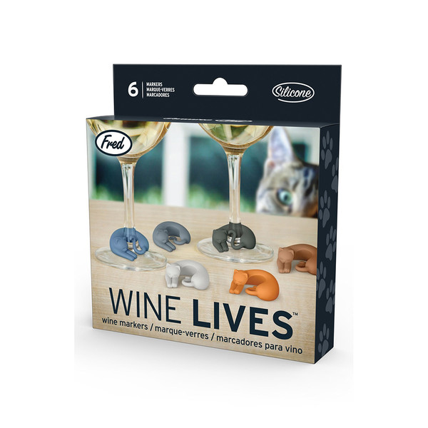 Fred and Friends Wine Lives Cat Drink Markers