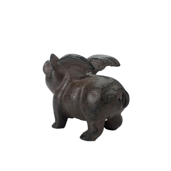 Cast Iron Flying Pig Paperweight