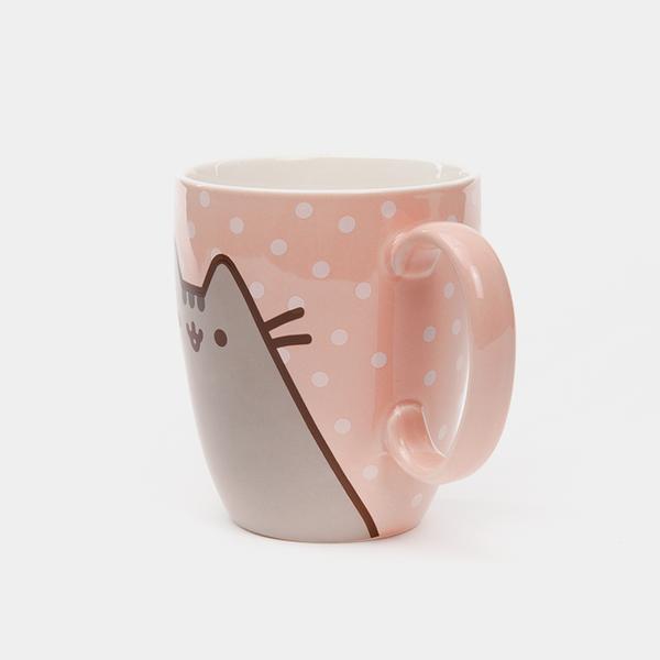 Pusheen The Cat Polka Dot Ceramic Mug 12 oz