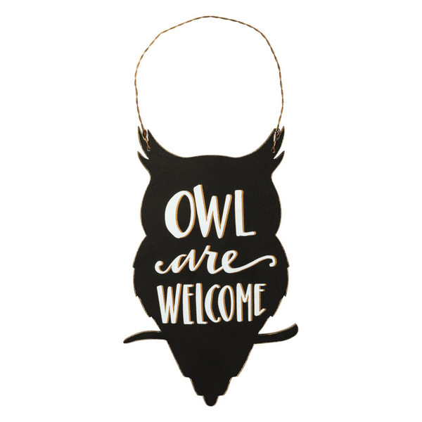 Owl Are Welcome Hang Sign
