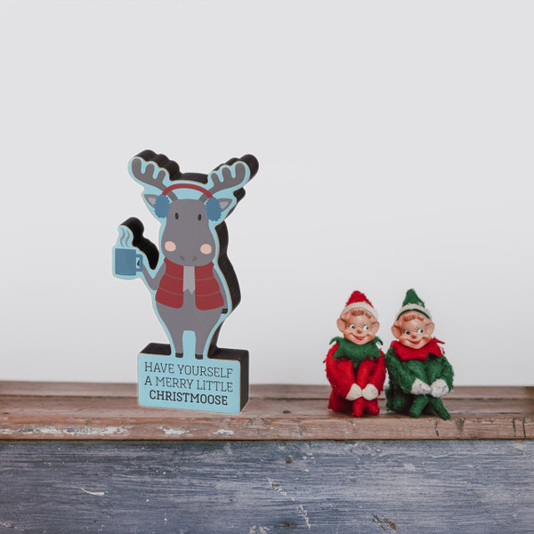 "Chunky Sitter ""Have A Merry Christmoose"" Box Sign"