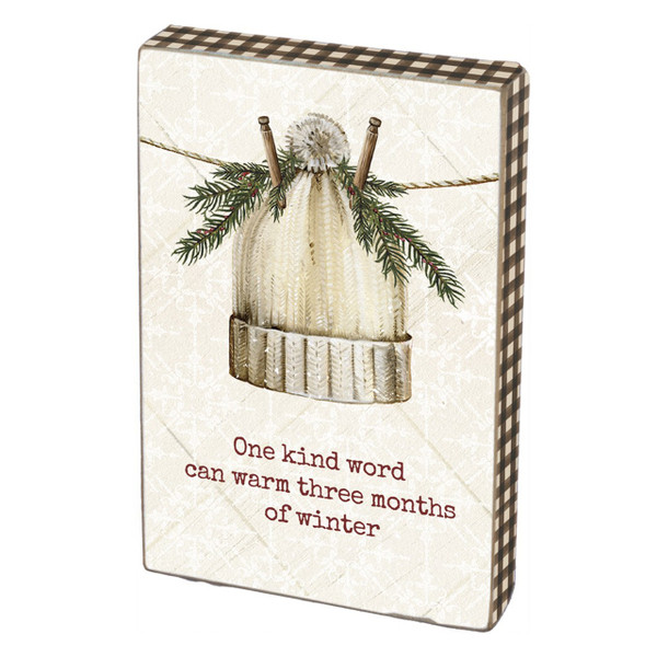 One Kind Word Can Warm Winter Box Sign