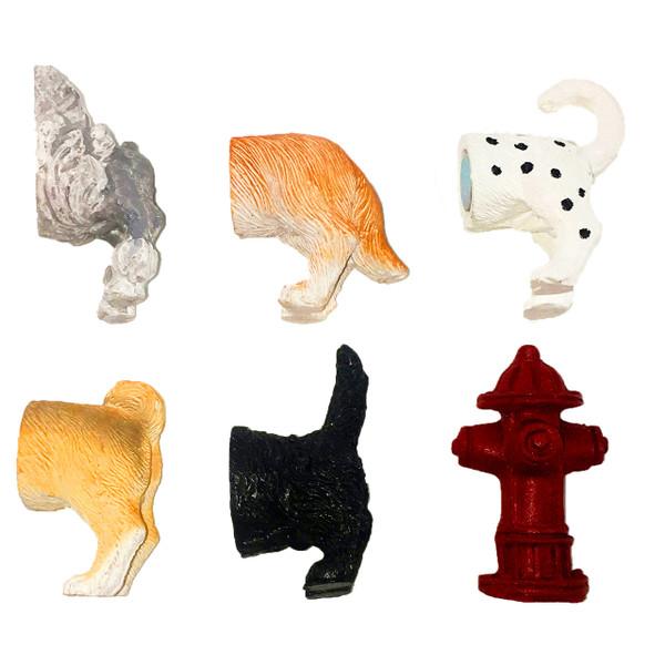 Dog Butt Magnets, Set of 6