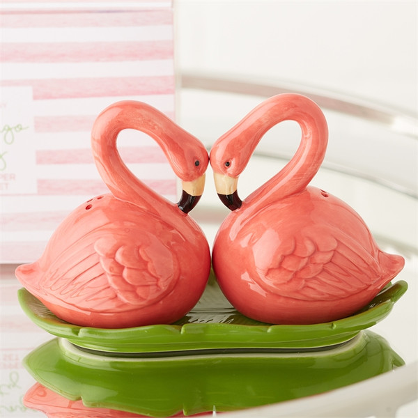 Flamingo Salt & Pepper Shaker Set