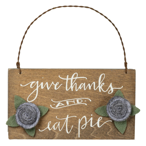 Thanks and Eat Pie Ornament