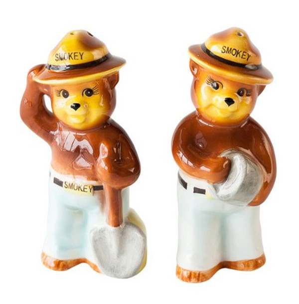 Smokey the Bear Salt & Pepper Shaker Set