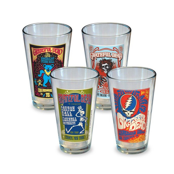 Grateful Dead Tour Poster Pint Glass Set