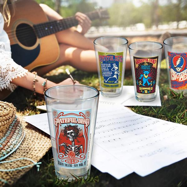 Grateful Dead Poster Pint Glass Set