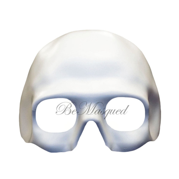 White Skull Half-Face Mask