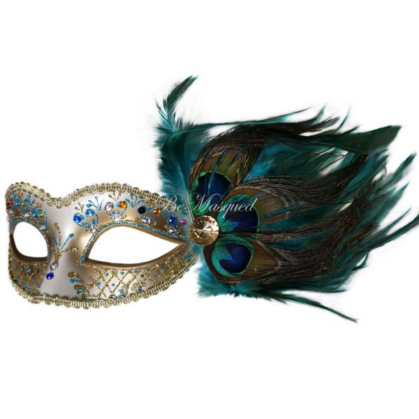 Venetian Peacock Feather Mask