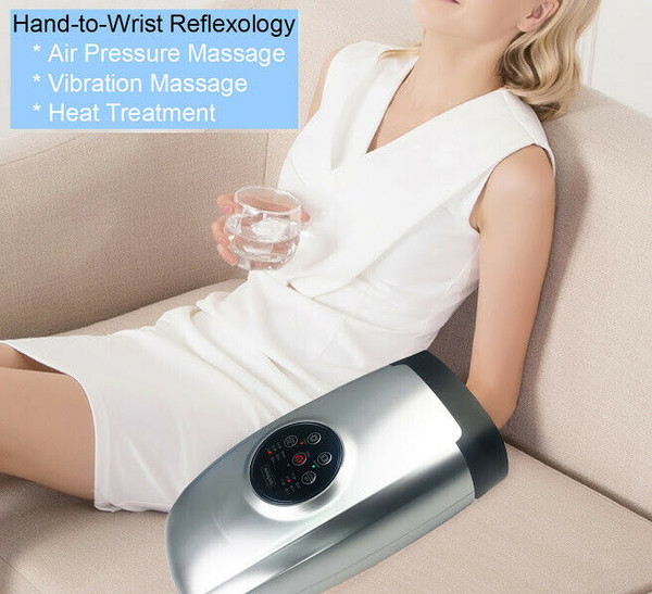 Hand-to-Wrist Warming Acupressure Massage with Kneading and Vibration