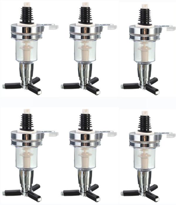 6 Piece Replacement Nozzle Shot Dispenser for Revolving Liquor Caddy Bottle Holder