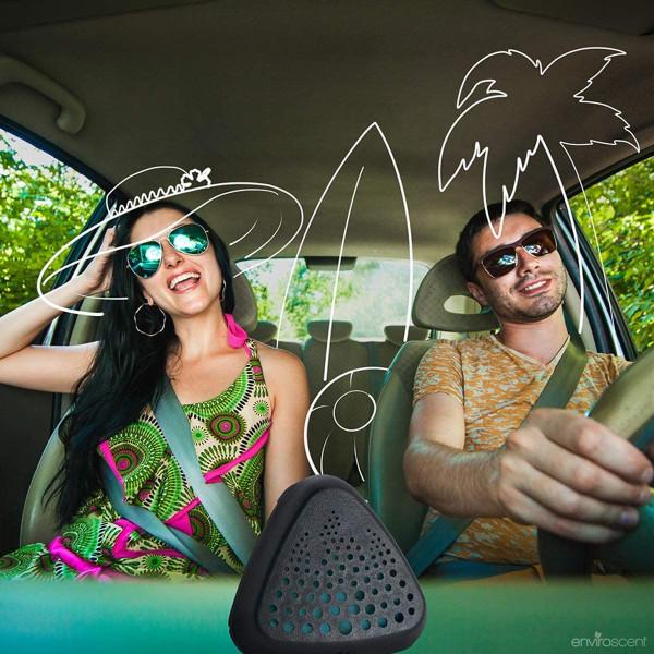 Enviroscent 01715 Auto Vent Clip, 100% Natural, Solvent-Free, Seaside Coconut Scent