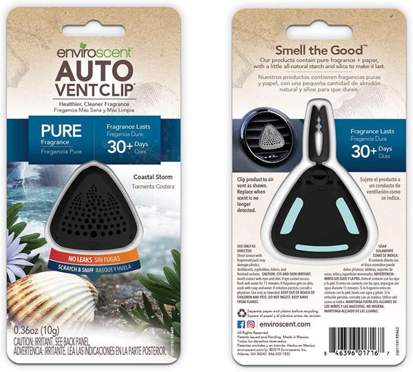 Enviroscent 01716 Auto Vent Clip, 100% Natural, Solvent-Free, Coastal Storm Scent