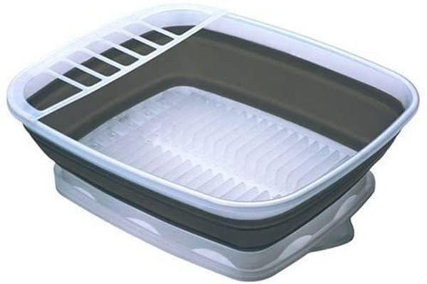 Progressive Collapsible Dish Rack with Drain Board, CDD-100
