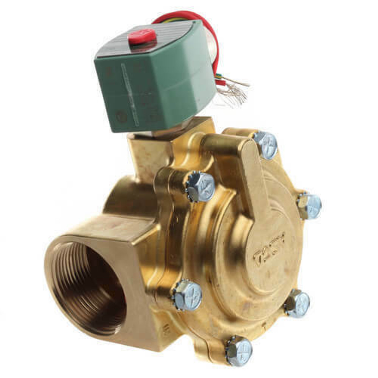 Ascco 120V AC Solenoid Valve, Normally Closed, 1/2 in Pipe