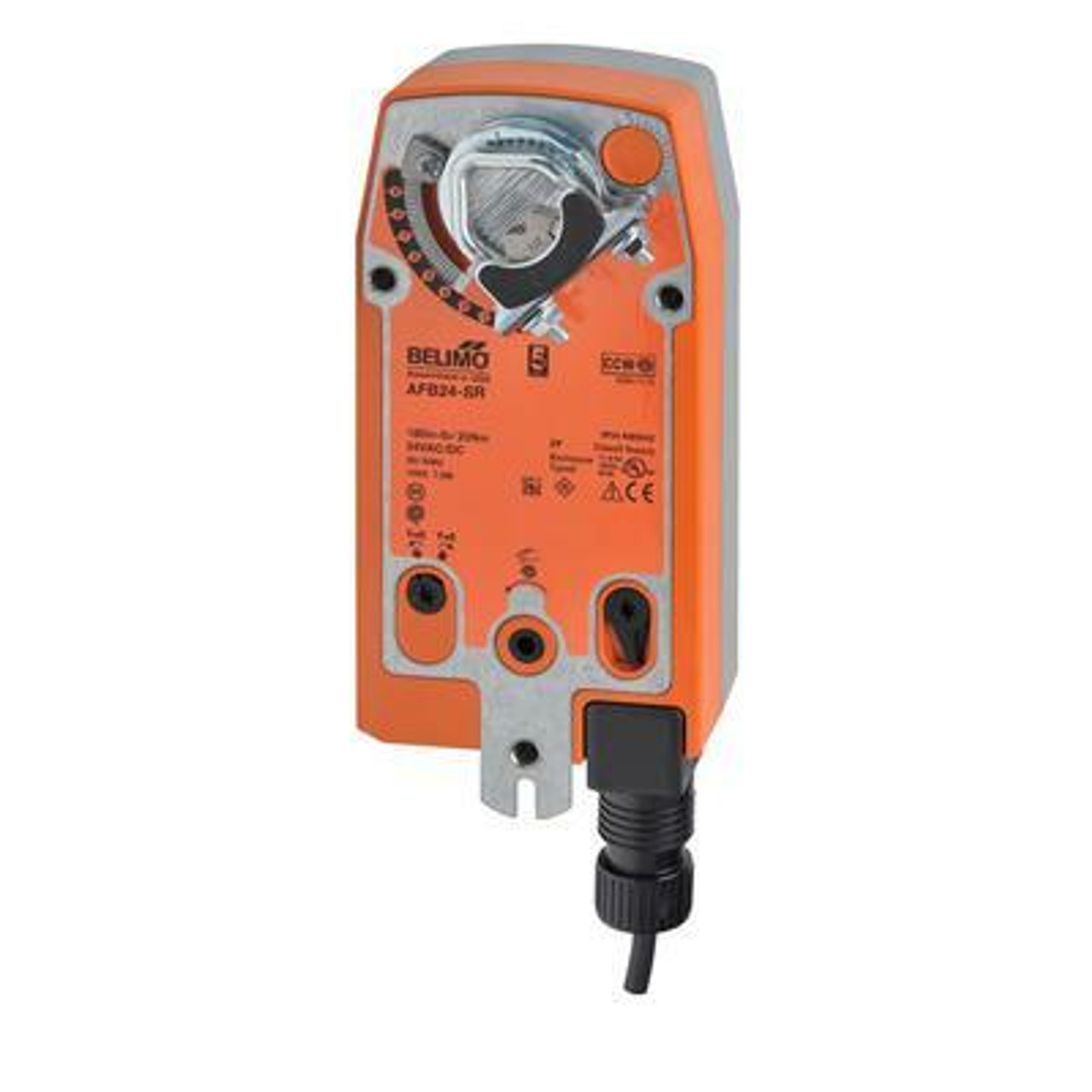 Belimo AFB24-SR - Damper Actuator Modulating, Spring Return, 24 VAC/DC, for 2 to 10 VDC or 4 to 20 mA Control Signal