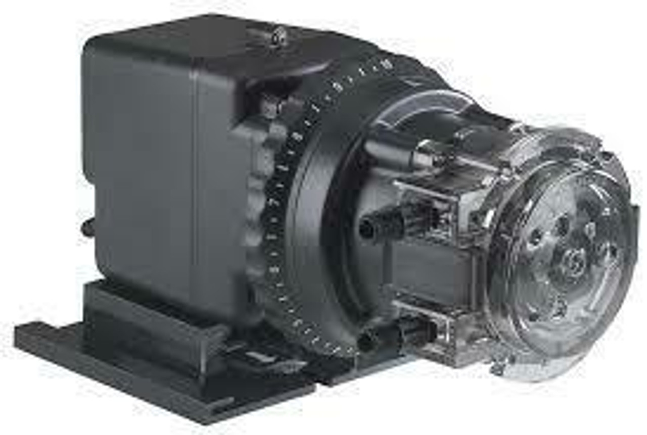 Classic 45 45MP5 Single Head Fixed Chemical Injection Pump; 1/4 Inch, 50 gpd, Polycarbonate, 120 V-60 Hz, 0-25 psi