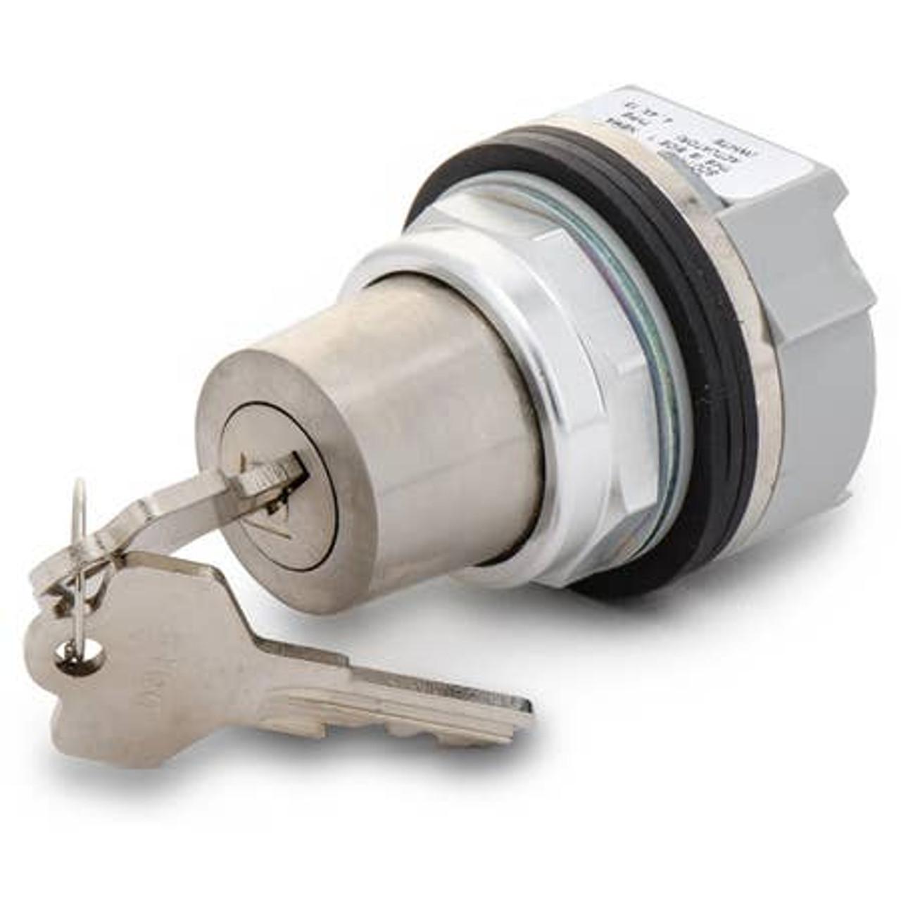 Allen Bradley selector switch compact 30.5mm size three position cylinder lock lock all standard key meet nema 4/13 enclosure.