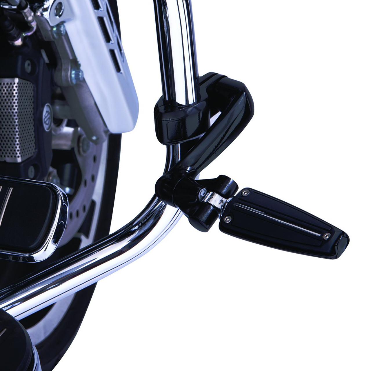 Ciro Chrome Floorboard Hi-Way Peg Mount w// Adjustable Arm for Harley FLH//T 09-up
