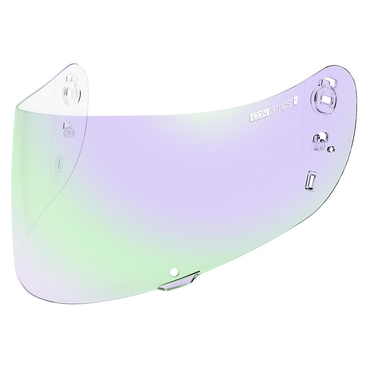 NEW ICON Variant Helmet  Shield RST Silver FREE SHIP GSXR CBR R6 ZX R1