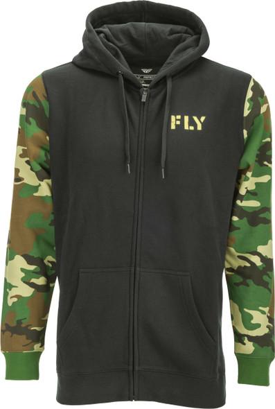 Fly Racing Camo Zip Up Hoodie