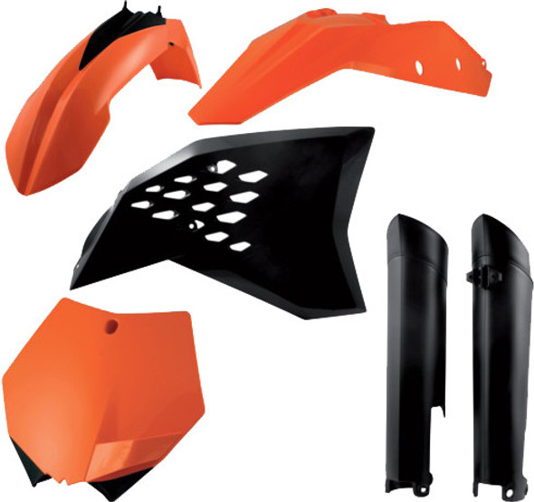 Acerbis Plastic Kit: 07-10 KTM 125cc to 505cc (SX/XC/SX-F/XC-F Models)