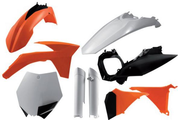 Acerbis Plastic Kit: 11-12 KTM 125cc to 450cc (SX/XC/SX-F/XC-F Models)