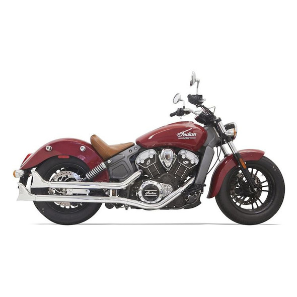 Bassani Fishtail Slip On Mufflers: 15-16 Scout Models