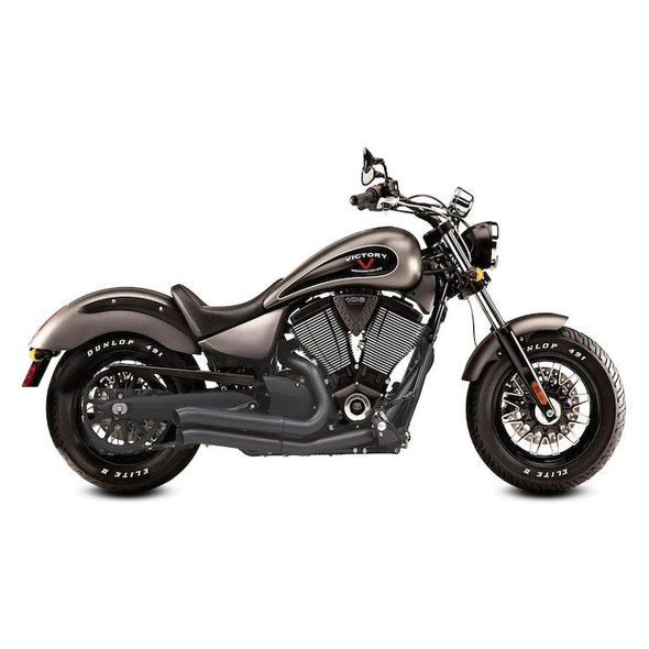 Bassani Pro-Street Turn-Out Exhaust: 06-17 Victory Models