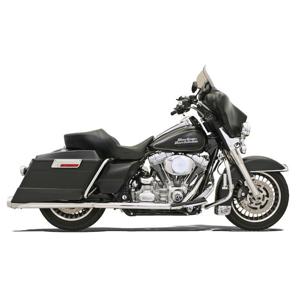 Bassani +P Stepped True-Duals Exhaust: 95-16 Touring Models