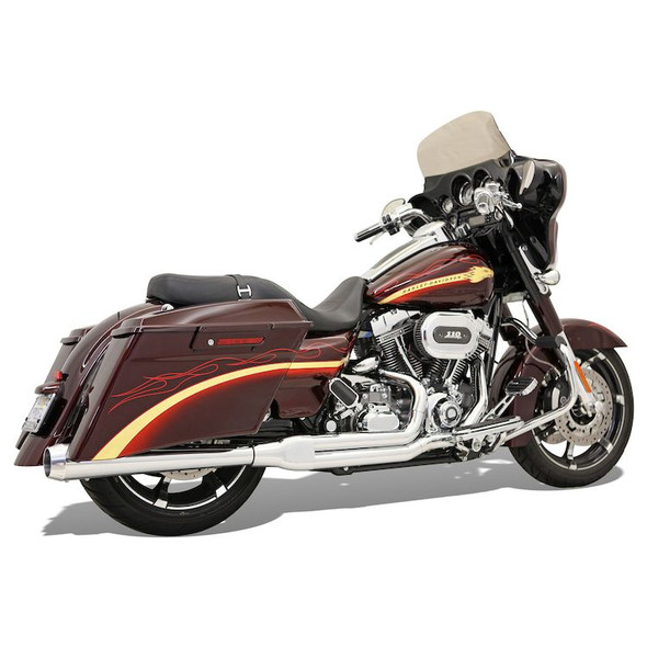 Bassani Road Rage 2-Into-1 Exhaust: 10-16 Touring Models