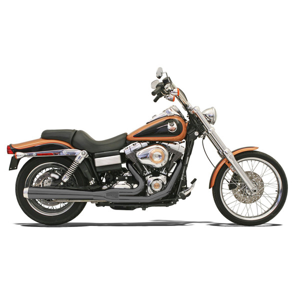 Bassani Road Rage 2-Into-1 Exhaust: 06-17 Dyna Models