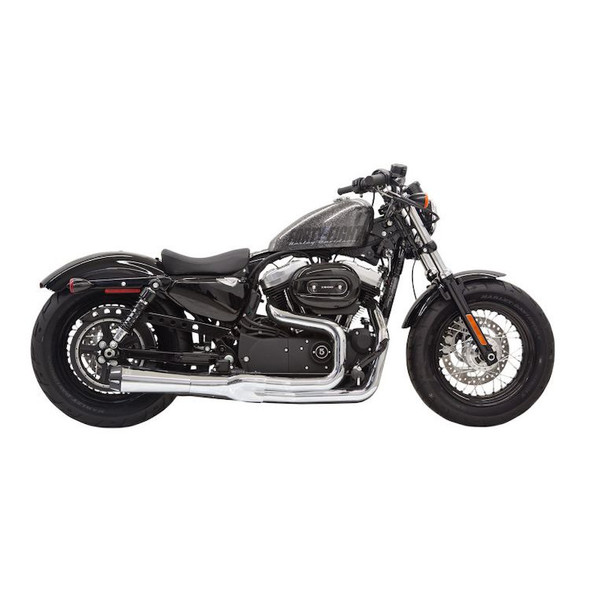 Bassani Road Rage 2 Mega Power 2-into-1 Exhaust: 2014+ Sportster Models