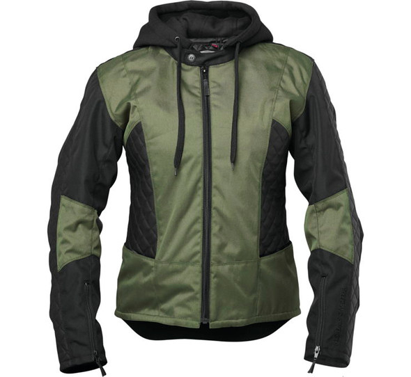 Speed and Strength: Women's Minx Leather Textile Jacket