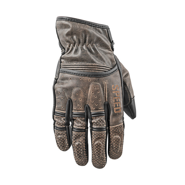 Speed and Strength Rust and Redemption Leather Gloves