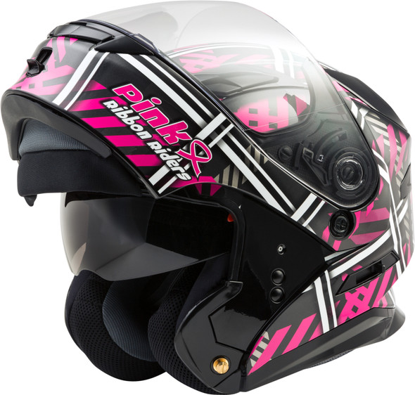 GMAX MD-01 Helmet - Pink Ribbon Riders