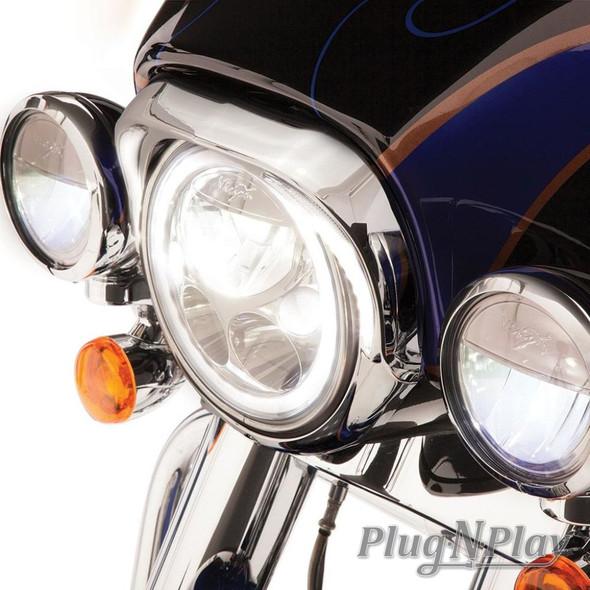 Ciro Fang LED Headlight Bezel - Harley Davidson FLH