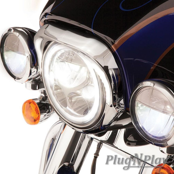 Ciro Fang LED Headlight Bezel - Harley-Davidson FLH