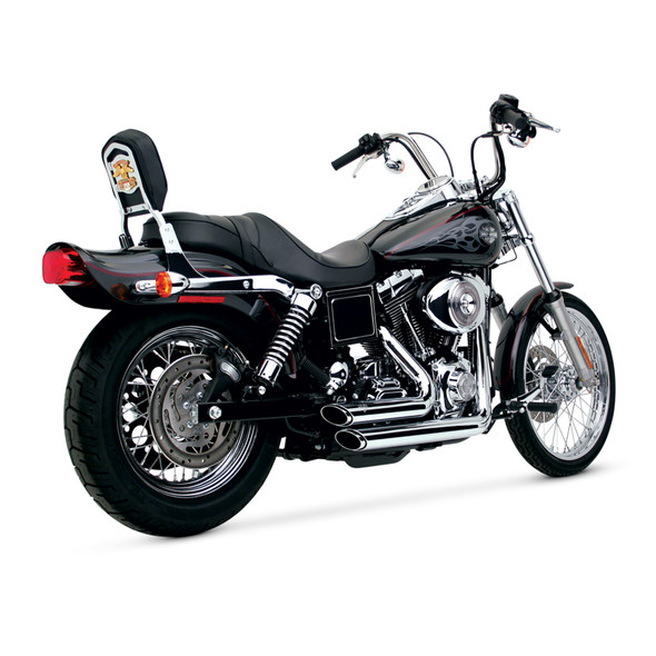 Vance & Hines Shortshots Staggered Full Exhaust: 91-05 Dyna Models - Chrome