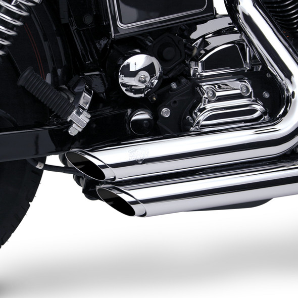 Vance & Hines Shortshots Staggered Exhaust - HD '91-'05 Dyna - Chrome