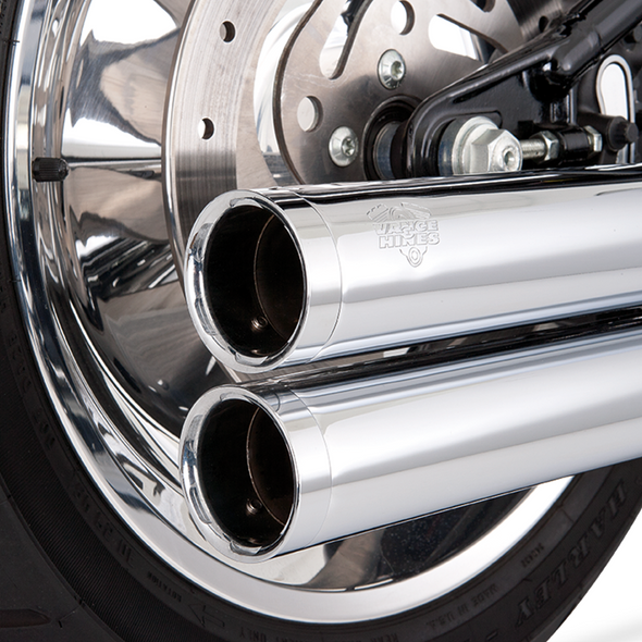 Vance & Hines Big Shots Long Exhaust - HD '86-'11 Softail - Chrome