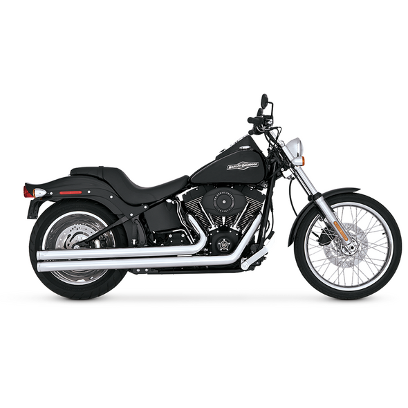 Vance & Hines Big Shots Long Full Exhaust: 86-11 Softail Models - Chrome