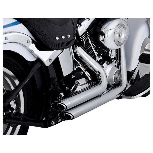 Vance & Hines Shortshots Staggered Exhaust: 86-11 Softail Models