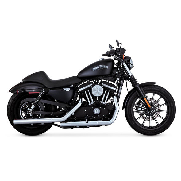 Vance & Hines Straightshots HS Slip-On Exhaust: 14-20 Sportster Models - Chrome