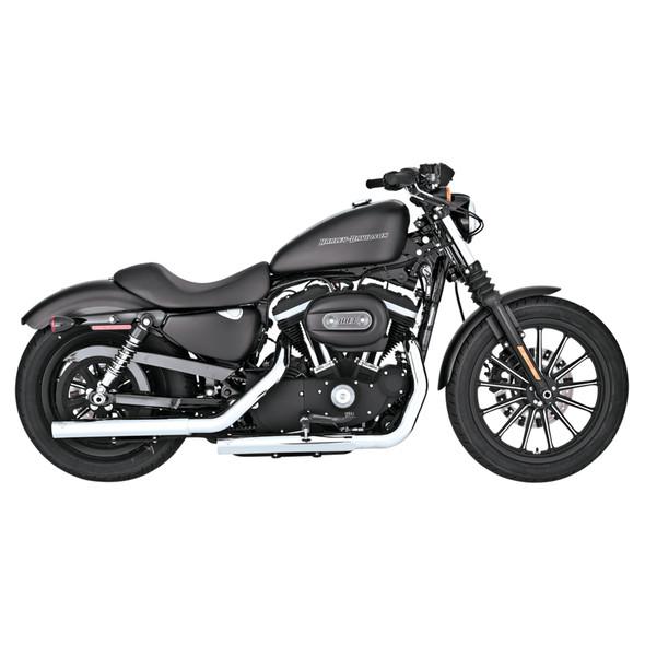 Vance & Hines Straightshots HS Slip-On Exhaust: 04-13 Sportster Models - Chrome