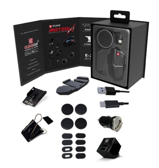 UCLEAR Motion Infinity Bluetooth Helmet Audio System - Single Kit