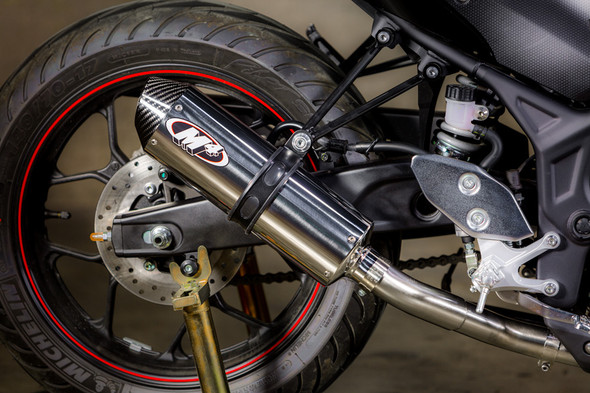 M4 15-20 Yamaha R3 Full Exhaust - Polished Canister