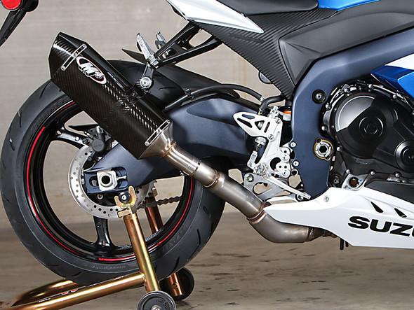 M4 12-16 Suzuki GSX-R 1000 Slip-On Exhaust - Carbon Canister