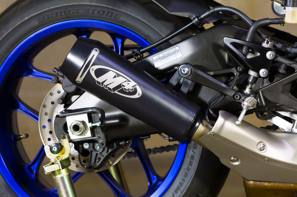 M4 15-20 Yamaha R1 GP2 Slip-On Exhaust - Black Canister